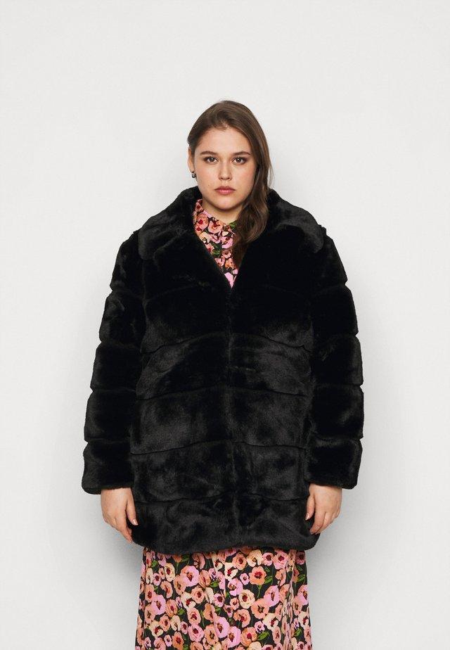 STEPPED COAT - Manteau classique - black