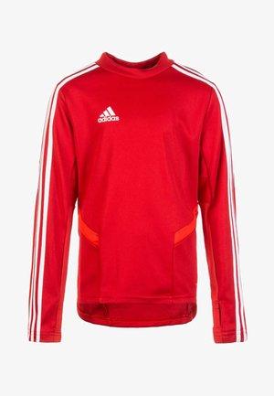 TIRO 19 SWEATSHIRT - Funktionsshirt - power red / white