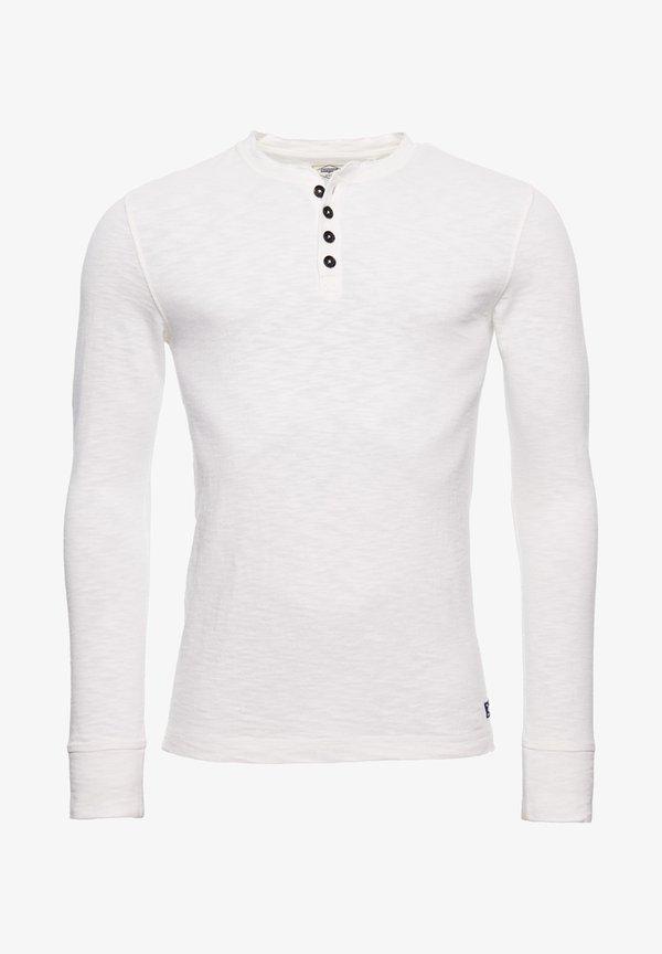 Superdry LEGACY - Bluzka z długim rękawem - cream/mleczny Odzież Męska TLKN