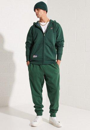 Zip-up sweatshirt - enamel green marl