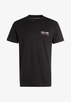 MN RAINBOW REPEAT - Print T-shirt - black