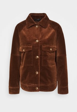 JACKET RAGLAN SLEEVE TURN DOWN - Lehká bunda - chestnut brown