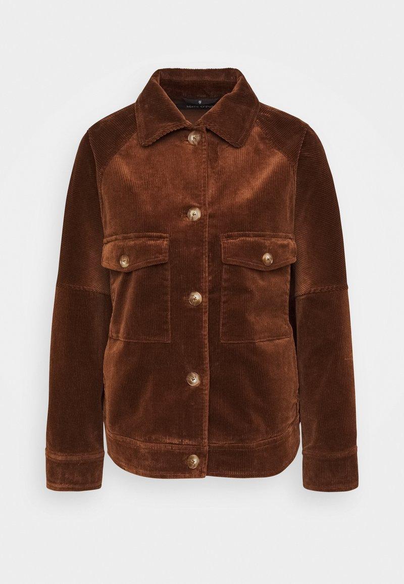 Marc O'Polo - JACKET RAGLAN SLEEVE TURN DOWN - Summer jacket - chestnut brown
