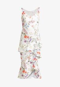 True Violet - BARDOT BODYCON WITH FRILL - Maxi dress - multi-coloured/white - 5