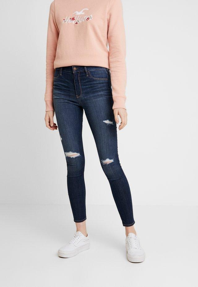 DESTROY - Skinny džíny - dark-blue denim