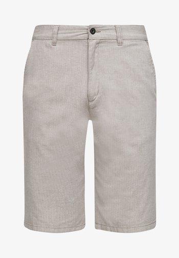 Shorts - beige heringbone