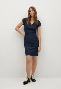 Mango - COFI7-A - Etui-jurk - marineblauw - 1
