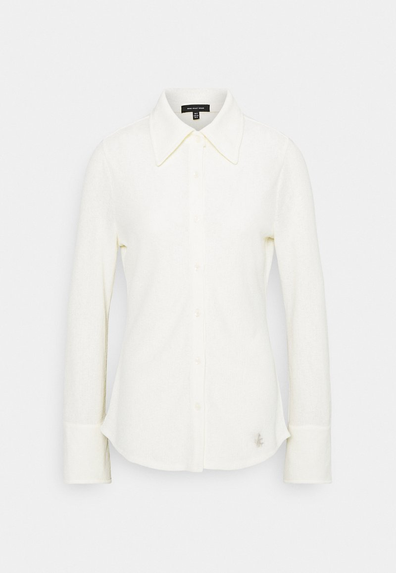 Who What Wear - FITTED SHIRT - Button-down blouse - cream