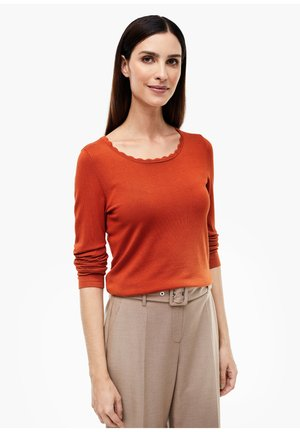MIT ZIERBORTE - Jumper - orange