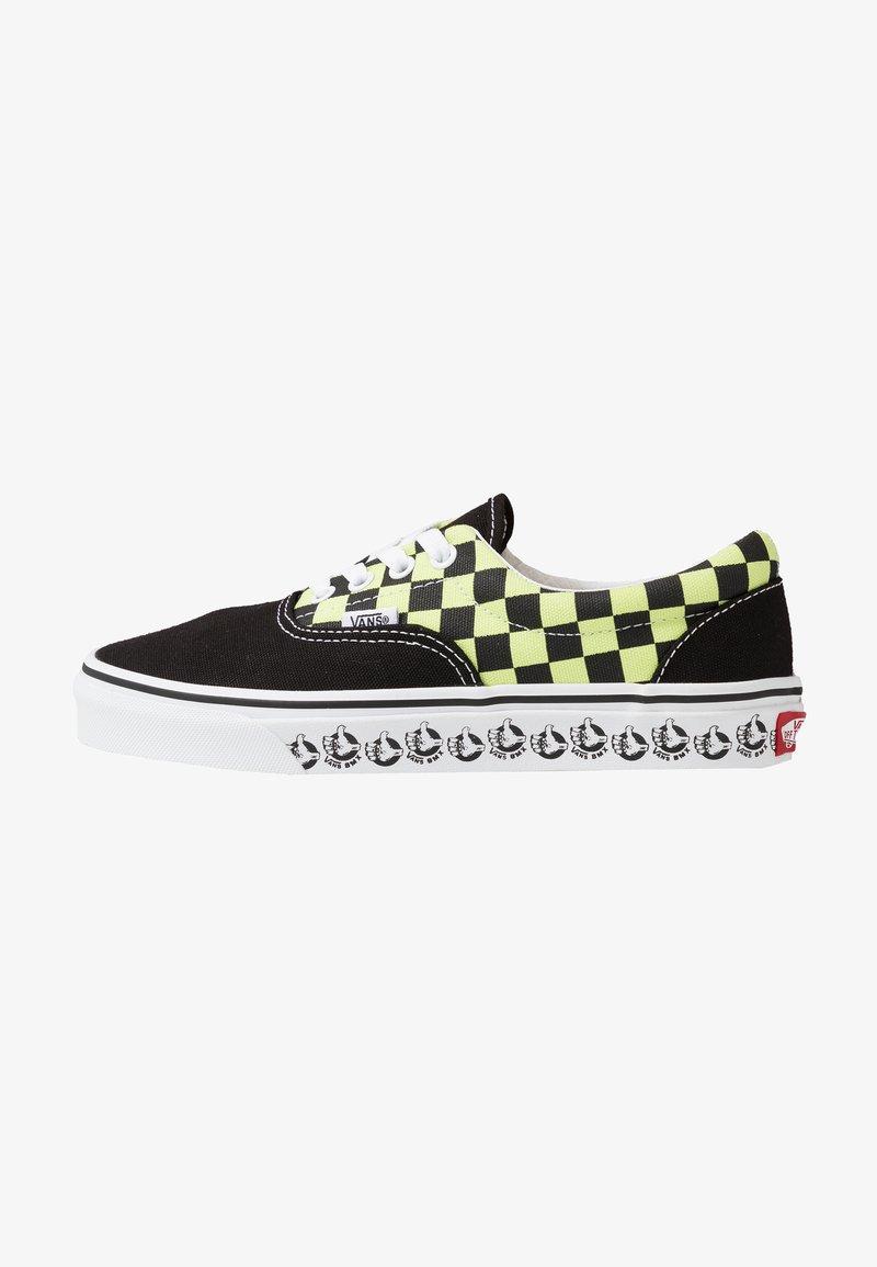 Vans - ERA - Sneakersy niskie - black/sharp green