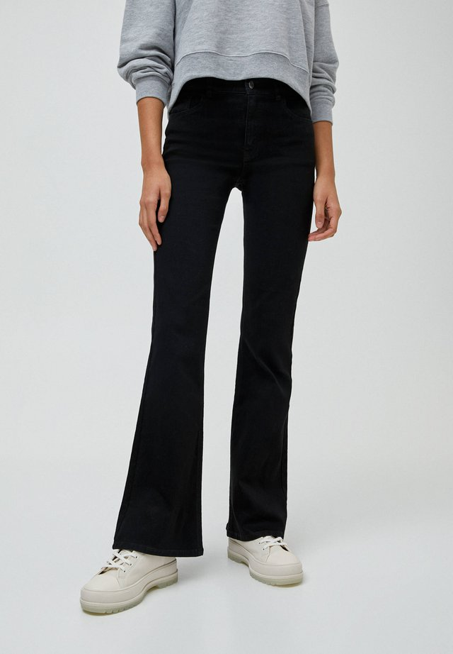 FLARE - Jeansy Bootcut - mottled black