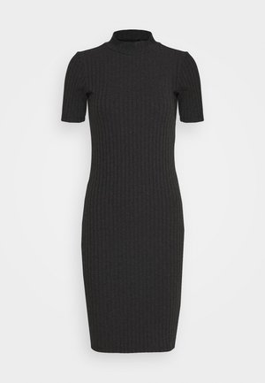 VENETIO SLIM FUNNEL DRESS 1\2 SL - Shift dress - black