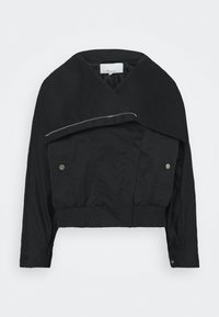 JACKET WITH EXAGGERATED COLLAR - Light jacket - black