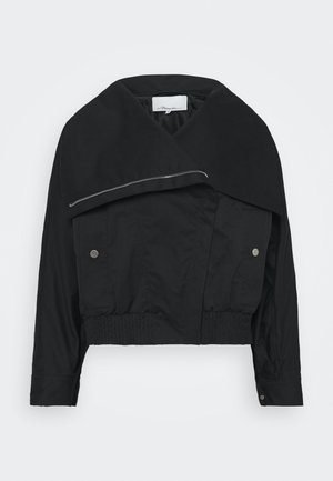 JACKET WITH EXAGGERATED COLLAR - Übergangsjacke - black