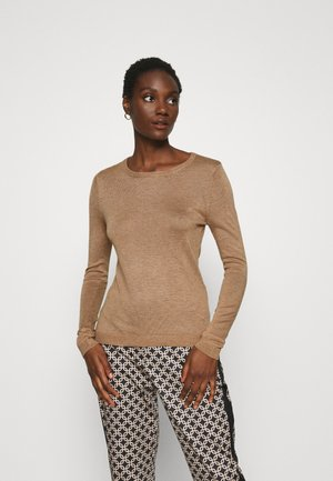 BASIC- SOFT CREW NECK JUMPER - Jumper - camel