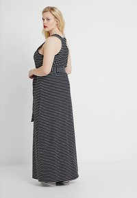 Urban Classics Curvy - LADIES LONG RACER BACK DRESS - Maxi šaty - black/charcoal - 2