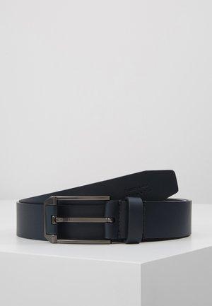 UNISEX LEATHER - Pásek - dark blue