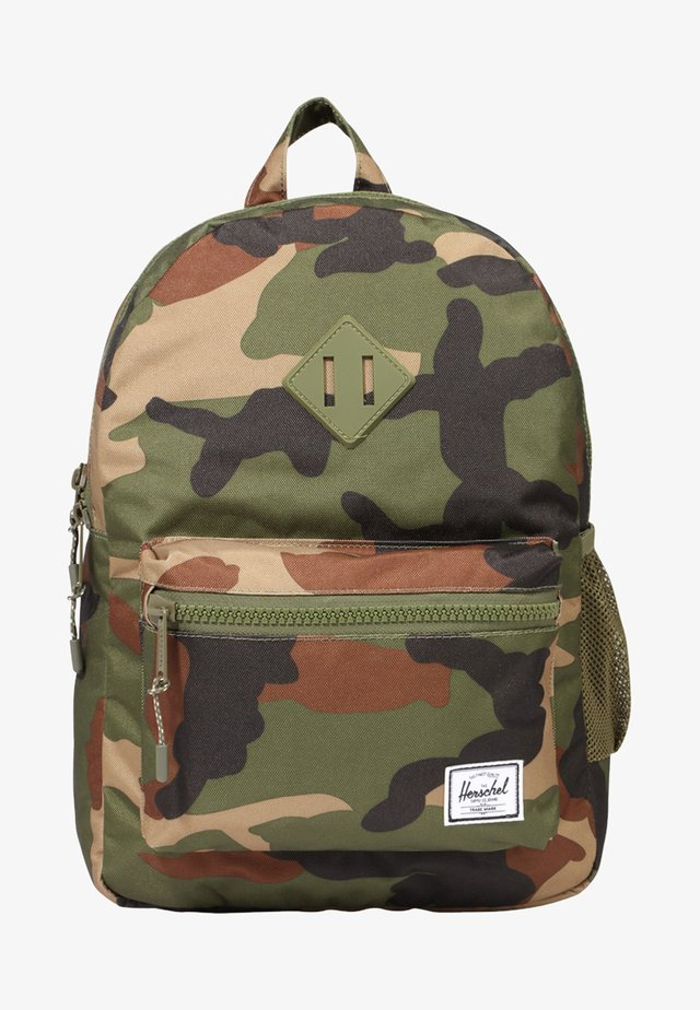 HERITAGE YOUTH - Rucksack - woodland camo