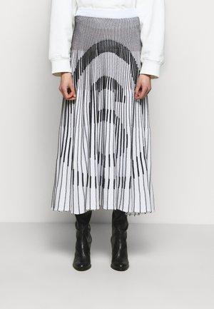 Pleated skirt - white/ black