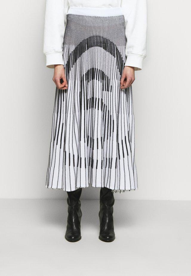 Jupe trapèze - white/ black