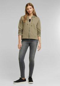 edc by Esprit - Zip-up sweatshirt - khaki - 1