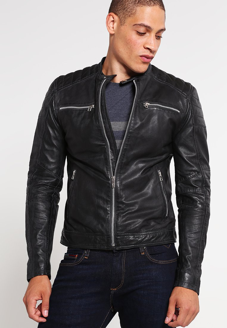 Goosecraft - JACKET - Kožená bunda - black