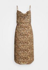 STRAPPY COWL MIDI DRESS - Day dress - brown