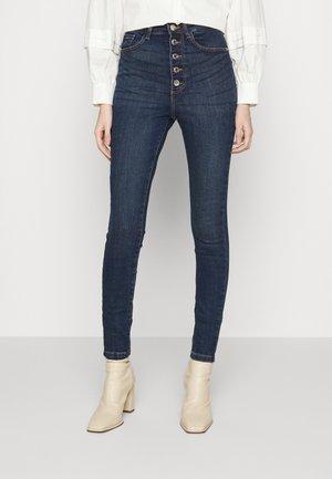 VMLOA BUTTON - Jeans Skinny Fit - dark blue denim