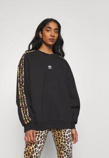LEOPARD CREW - Sweatshirt - black