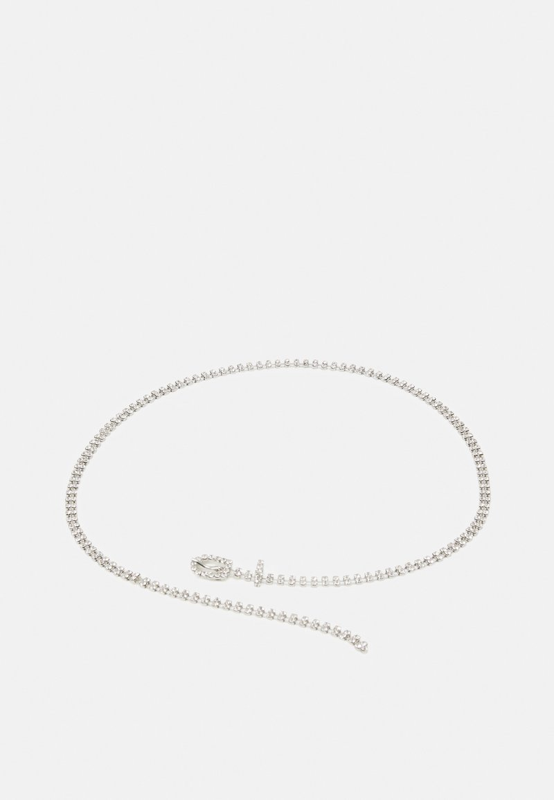 Pieces - ADOLINA SLIM BELT - Belt - silver clear