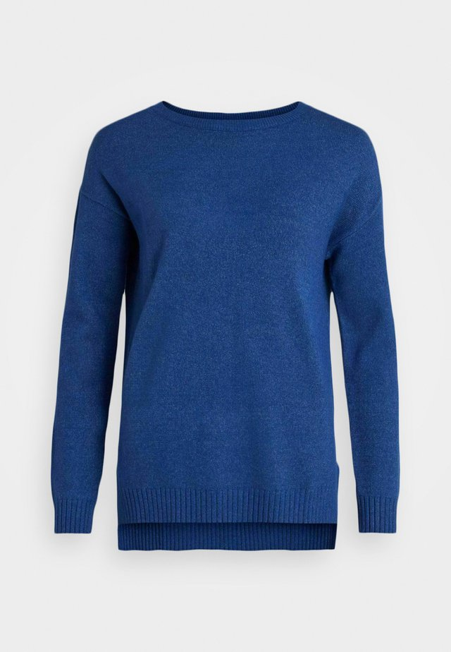 VIRIL HIGH LOW - Svetr - mazarine blue