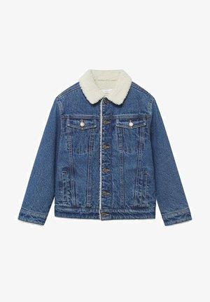 MIT KUNSTSHEARLING - Veste en jean - dunkelblau