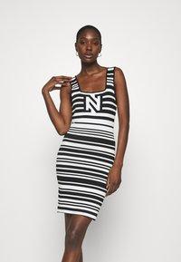 NIKKIE - JEAN DRESS - Jumper dress - white/black - 0