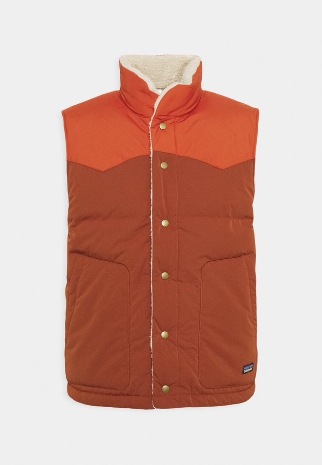 REVERSIBLE BIVY VEST - Smanicato - barn red