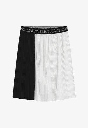 COLORBLOCK - A-line skirt - black