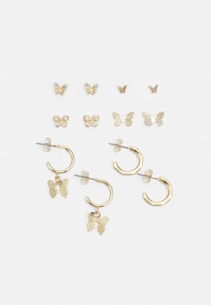 PCFLY EARRINGS 6 PACK - Korvakorut - gold-coloured