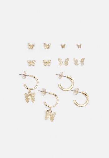 PCFLY EARRINGS 6 PACK - Earrings - gold-coloured
