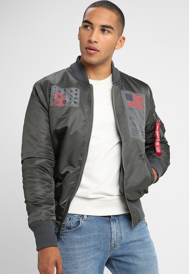 Alpha Industries - BLOOD CHIT - Veste mi-saison - greyblack