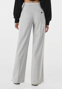 Bershka - Trousers - light grey - 2