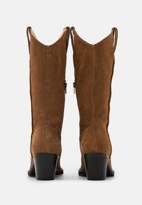 Selected Femme - SLFLOUISE  - Cowboy/Biker boots - cognac - 3