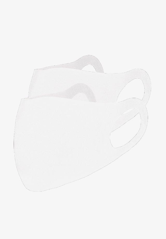 2 PACK - Maschera in tessuto - weiß