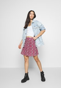 Even&Odd - 2 PACK - A-line skirt - black/red - 0