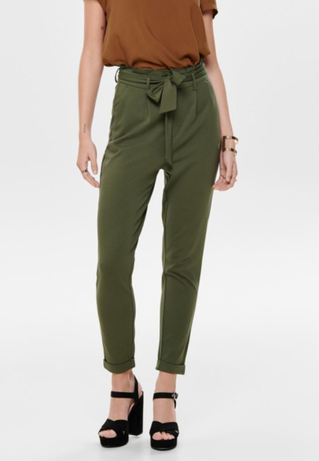 ONLPOPTRASH EASY PAPERBACK PANT PNT - Pantalones - kalamata