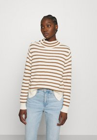 Mos Mosh - STRIPE - Jumper - toasted cocount - 0