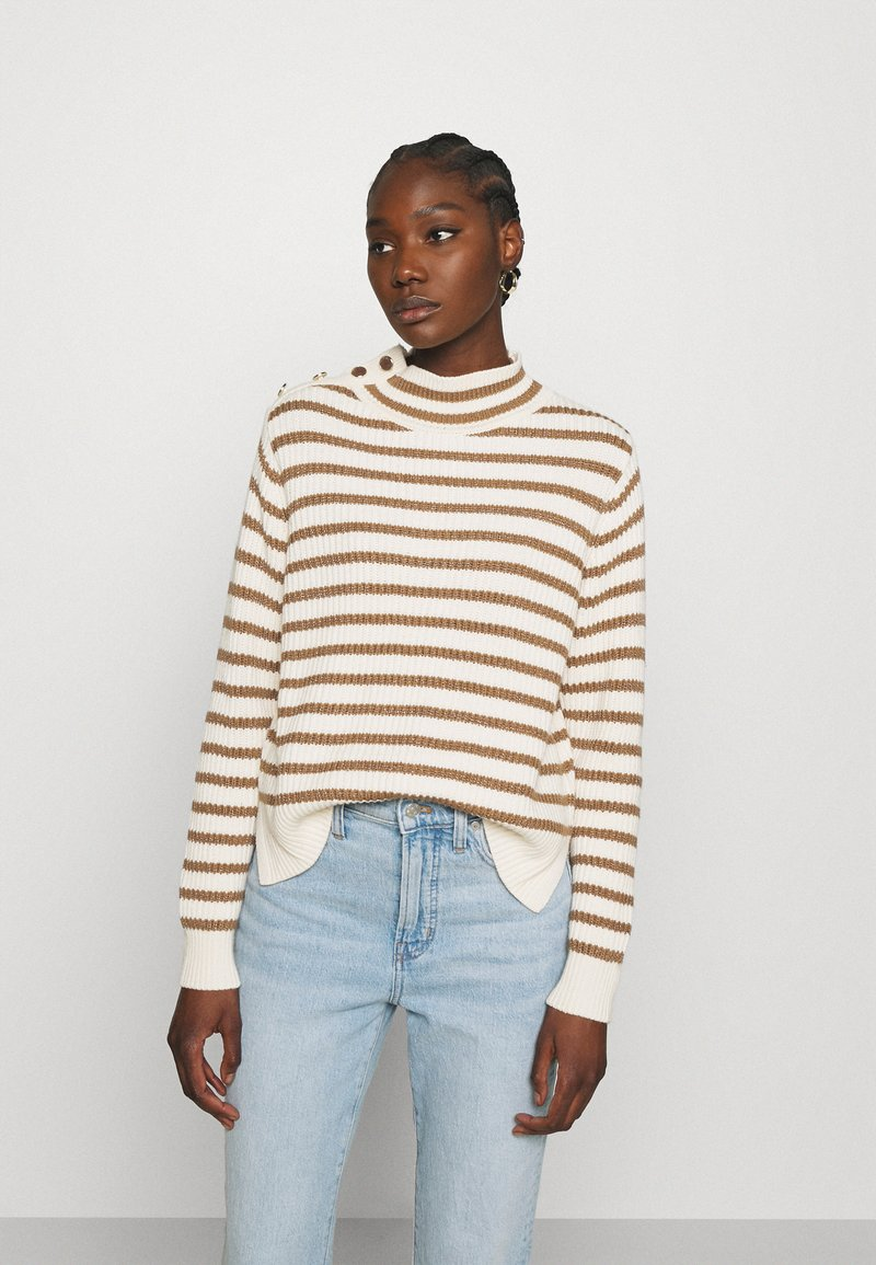 Mos Mosh - STRIPE - Jumper - toasted cocount