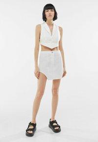 Bershka - Waistcoat - white - 1