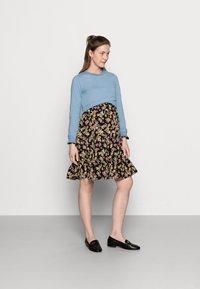 MAMALICIOUS - MLEMRA WOVEN DRESS  - Day dress - black/snow white / fall leaf /dewberry - 1