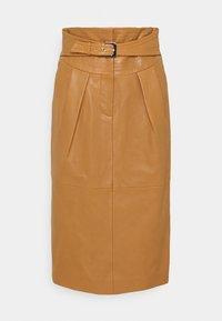 Alberta Ferretti - PIECES SKIRT - Leather skirt - brown - 0