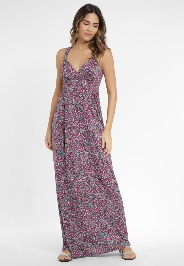 Maxi dress - beere-bedruckt