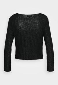 New Look Petite - STITCHY CARDIGAN - Cardigan - black - 1